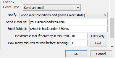 MultiPing Getting Started Guide: Setting up an Email Alert